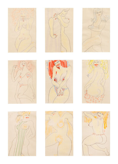 William Scharf, 'Untitled (Nine Studies of the Female Form)'