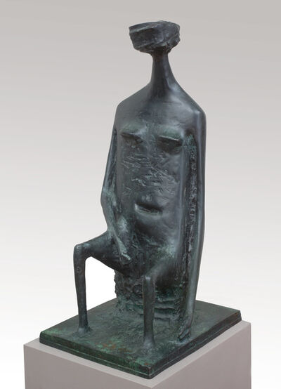 Kenneth Armitage, 'Seated Woman with Square Head (double base)', 1955