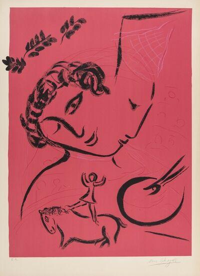 Marc Chagall, 'Le Peintre en rose (Mourlot 224)', 1959