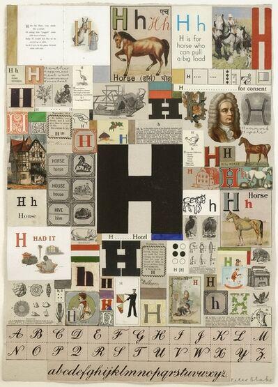 Peter Blake, 'An Alphabet: H', 2009