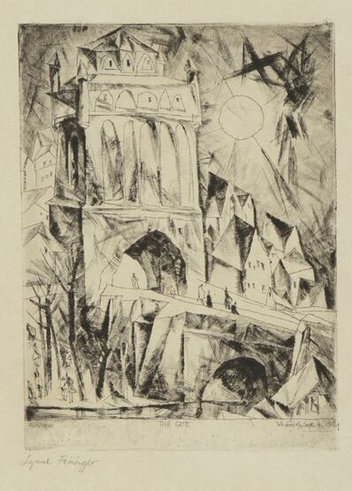 Lyonel Feininger, 'The Gate (Das Tor) (P. E 52)', 1912