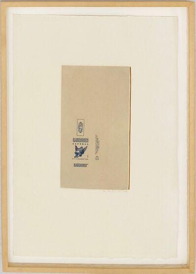 Robert Motherwell, 'Gauloises Bleues (Raw Umber Edge)', 1970