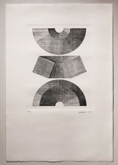 Clement Meadmore, 'Three Views of Half Circle Module', 1992