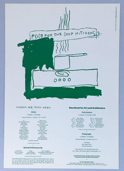 Jean-Michel Basquiat, 'Basquiat Food for the Soup Kitchens (poster)', 1983