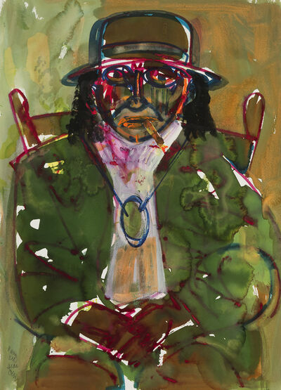 Romare Bearden, 'The Green Man (From the Rituals of the Obeah Series)', 1984