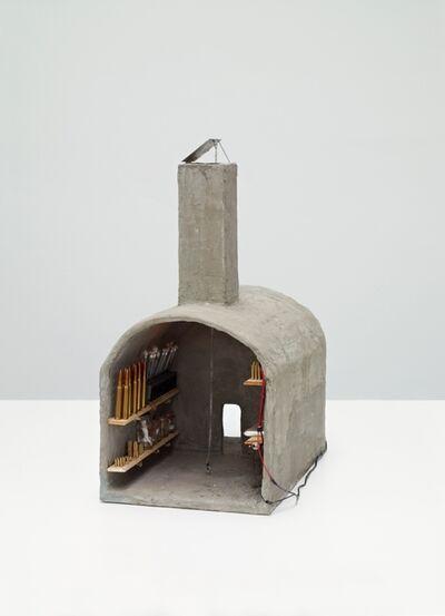 Jan Fabre, 'Schuilkelder-atelier met eendekop en Communistische hamer', 1991-1992