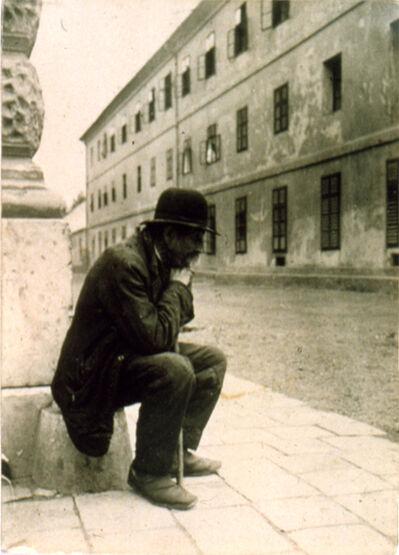 André Kertész, 'Clochard, Hungary', 1916