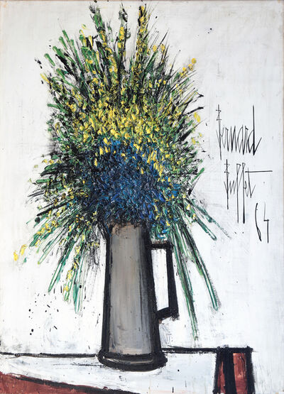 Bernard Buffet, 'Fleurs Jaunes et Bleues dans un pichet', 1964
