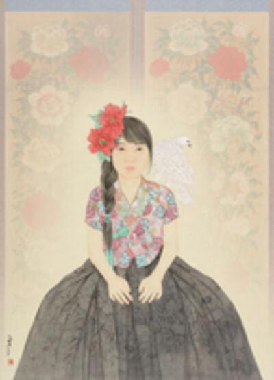 Jung-Ran Kim, 'Palace, Peony', 2018