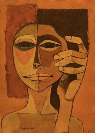 Oswaldo Guayasamín, 'Child Head with Hand', ca. 1986