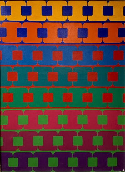 """Miguel Ángel Battegazzore, '""""Series en tríadas""""', 1976"""