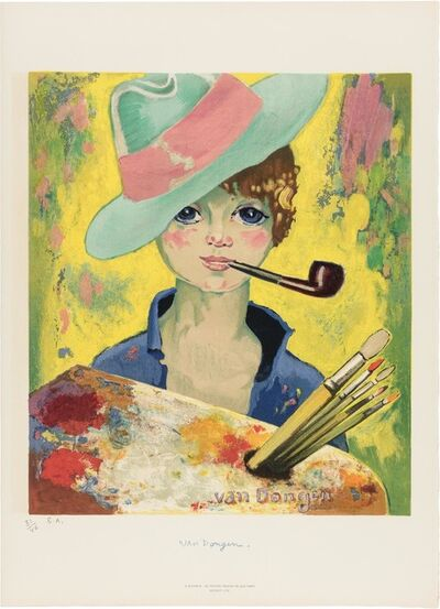 Kees van Dongen, 'Jean-Marie With Hat And Pipe (Le Bonheur) (See J. P. 175)', 1955