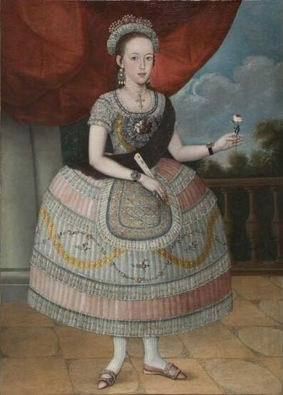 Pedro José Díaz (attributed to), 'Portrait of a Young Woman', 1795-1810