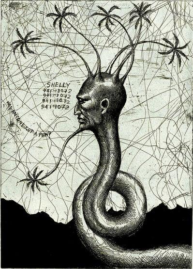 Ashley Bickerton, 'Snake Head No. 3', 2006