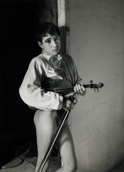 Lucien Clergue, 'Violinist, Arles, France', 1954