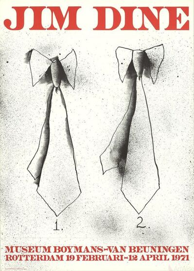 Jim Dine, 'Two Ties', 1971