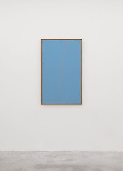 Mario Nigro, 'Fondo celeste verde 1 riga rosso carminio', 1978