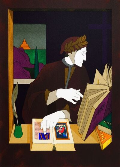 Tom Phillips, 'Dante in his Study and Virgil in his Study, together with seven others from Dante's Inferno'