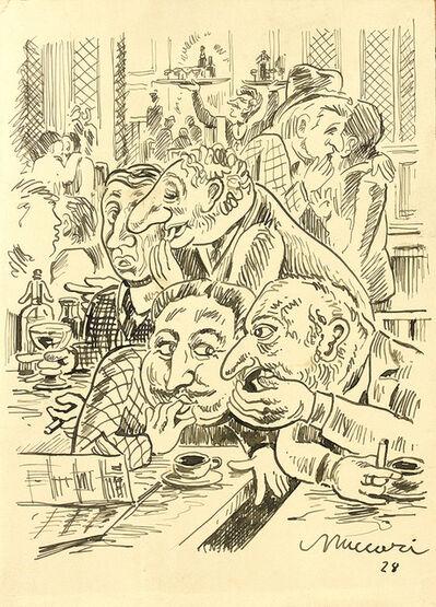 Mino Maccari, 'Cafe', 1928