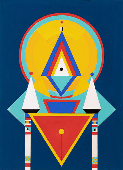 Charmion von Wiegand, 'Gouache #230: Table of Offerings', 1965-1966