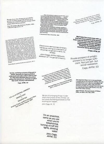John Cage, 'Anarchy program', 1988