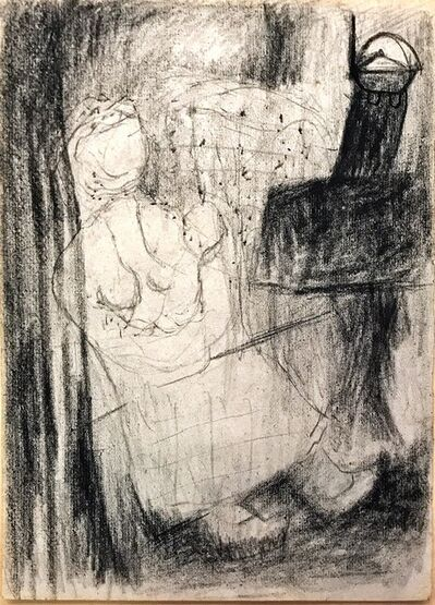 Chu Wei-Bor, 'Preliminary 16k Charcoal & Drawing ', 1957