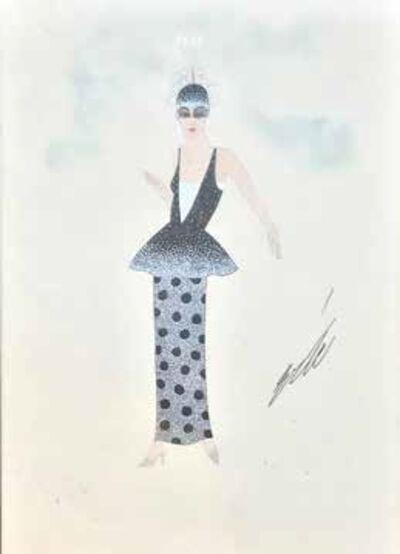 Erté (Romain de Tirtoff), 'Femme de face, étude de costume'