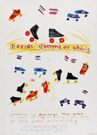 David Hockney, 'Hand Signed David's Evening on Wheels', 1980