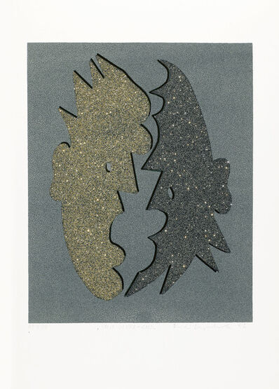 Kiki Kogelnik, 'Split Silver and Gold', 1996