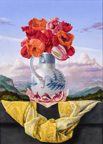 James Aponovich, 'Still Life with Tulips and Pomegranate', 2019