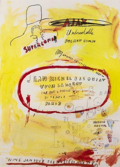 After Jean-Michel Basquiat, 'Supercomb', 1988