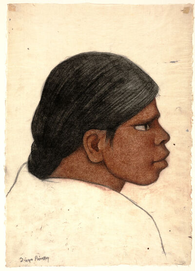 Diego Rivera, 'Profile of a Woman', ca. 1930