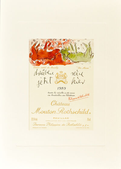 """Georg Baselitz, 'Design de Georg Baselitz - """"Die Mauer"""" ', 1989"""