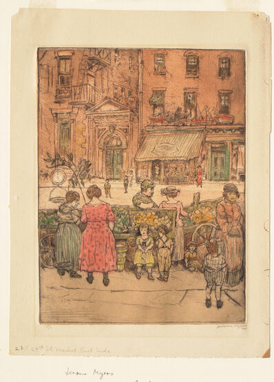 Jerome Myers, '29th Street Market, East Side', ca. 1915