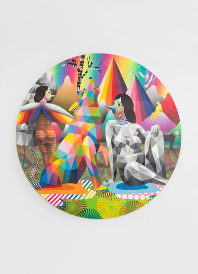 Okuda San Miguel, 'The Howling of the Rainbow Mountains', 2019