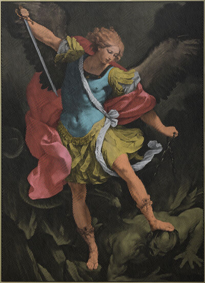 Egor Ostrov, 'Archangel Michael (after Guido Reni)', 2018
