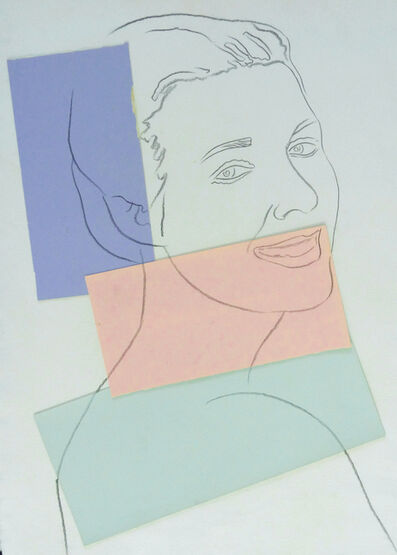 Andy Warhol, 'Presumed Portrait of Antoine Grunn (Female Portrait) with blue, pink and green', 1982