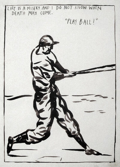 Raymond Pettibon, 'Untitled (Play Ball!)', 1989