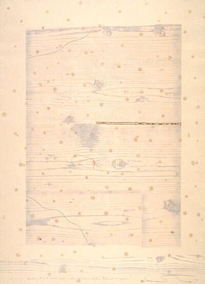 Shoichi Ida, 'Garden Project--Wood, Paper, Fire and Rain--Between Vertical and Horizon', 1986