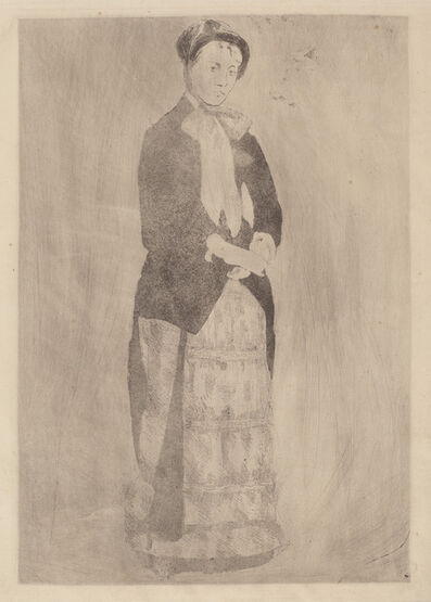 Mary Cassatt, 'Afternoon Promenade', ca. 1881