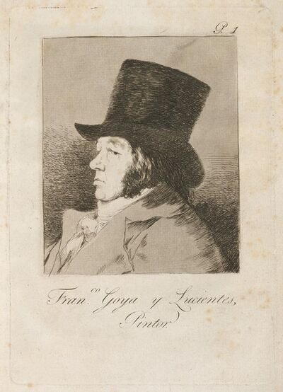 Francisco de Goya, 'Francesco Goya y Lucientes, Pintor', published 1799