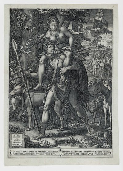 Giorgio Ghisi, 'ALLEGORY OF THE HUNT', 1556