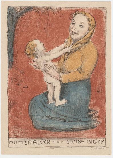 Cuno Amiet, 'Mutterglück – Ewige Brück. (Joys of motherhood)', 1945