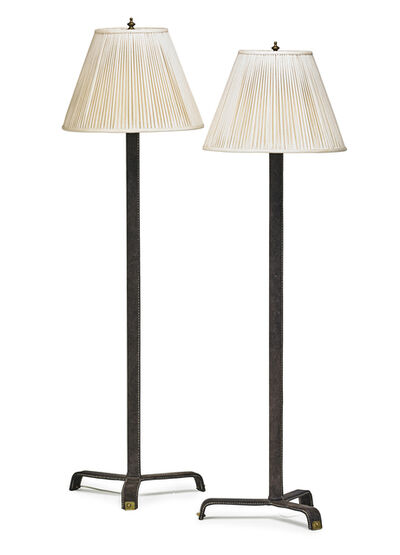 Attributed to Jacques Adnet, 'Pair of floor lamps, France', 1960s