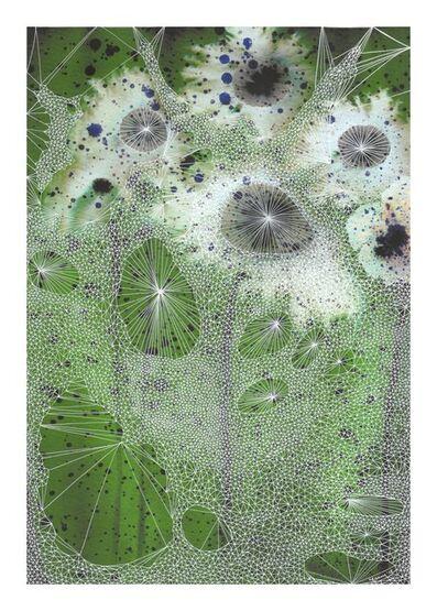 Marian Fannon Christian, 'Webs on Flowers', 2018