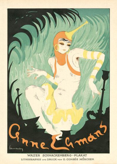 """Walter Schnackenberg, '""""Anne Leons"""", Kostume, Plakate und Decorationen', 1920"""