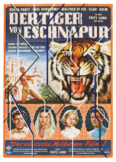 Sarah Morris, 'Der Tiger von Eschnapur', 2017