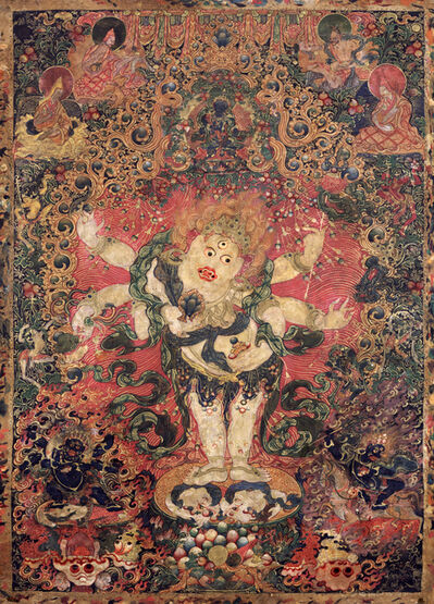 'Six-armed White Mahakala', Late 18th century