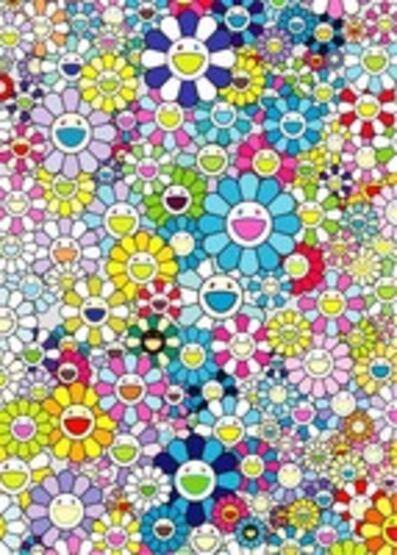 Takashi Murakami, 'Champagne Supernova, Blue', 2013