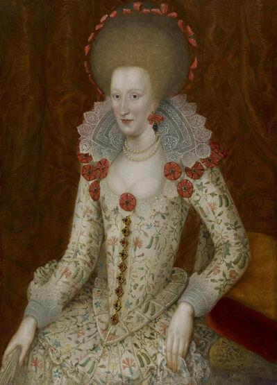 John de Critz the Elder, 'Anne of Denmark (1574 – 1619), Queen of James VI & I', ca. 1612